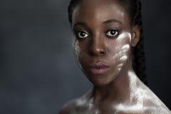 Black woman looking at camera Stock Photo