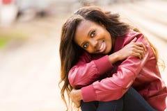 Black woman outdoors Stock Photos