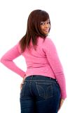 Black woman portrait (rear view) Royalty Free Stock Image