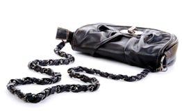Black woman purse Royalty Free Stock Image