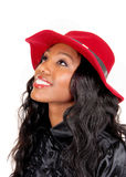Black woman with red hat. Stock Image