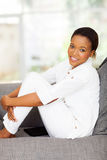 Black woman relaxing Stock Photo