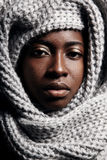 Black woman in a scarf Stock Image