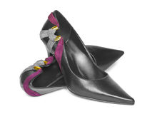 Black woman shoes Royalty Free Stock Images