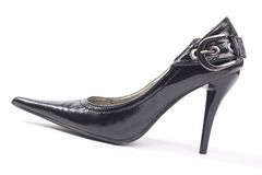 Black woman shoes, high heels Royalty Free Stock Photography