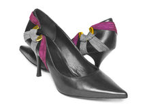 Black woman shoes Stock Photography