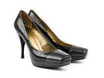 Black woman shoes Royalty Free Stock Image