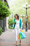 Black woman shopping Stock Photography