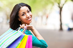 Black woman shopping Royalty Free Stock Photo