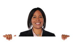 Black woman with sign Royalty Free Stock Image