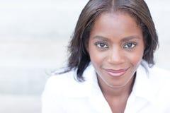 Black woman smiling Stock Photo