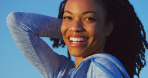Black woman smiling and laughing Stock Photography