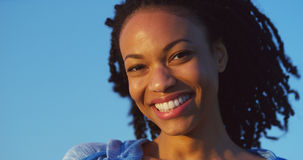Black woman smiling and laughing Stock Photo