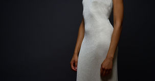 Black woman standing in an elegant gown Stock Photo