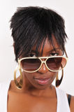 Black woman with sunglasses Royalty Free Stock Photo