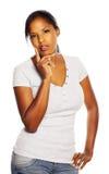 Black woman thinking Stock Photography