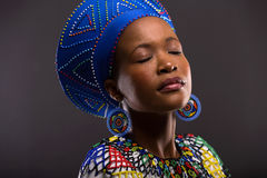 Black woman traditional royalty free stock photo