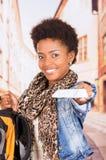 Black woman travelling Royalty Free Stock Photo