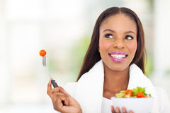 Black woman vegetable Stock Image