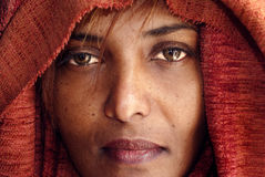 Black woman with veil Stock Images