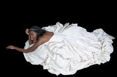 Black woman in wedding dress Stock Photography