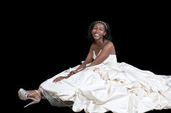 Black woman in wedding dress Stock Photos