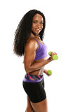 Black Woman working out Stock Image