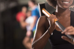 Black woman after workout with hammer Royalty Free Stock Photo