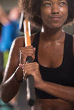 Black woman after workout with hammer Stock Photography