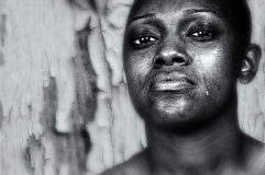 Black Womans Burden Royalty Free Stock Images