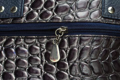 Black  women bag  leather texture Royalty Free Stock Photo