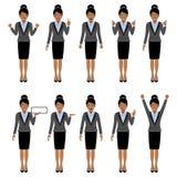 Black women character set, , vector illustration Stock Photo