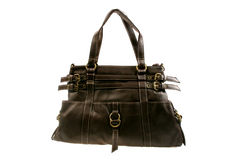 Black Women Hand Bag. Isoloated from white background Royalty Free Stock Images