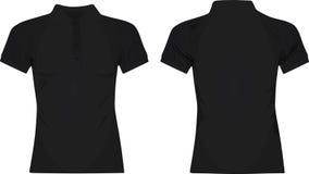 Black women polo t shirt Stock Photo