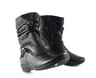 Black women's boots Royalty Free Stock Images