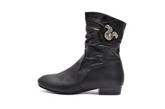 Black women's boots Royalty Free Stock Image