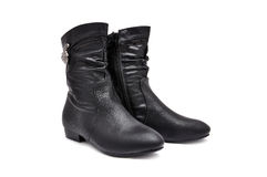 Black women's boots Royalty Free Stock Photos