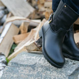 Black women's boots Stock Images