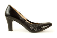 Black women's high-heeled shoes Royalty Free Stock Photo