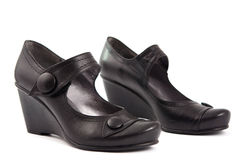 Black women's shoes Royalty Free Stock Images