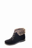 Black women's shoes. On a white background Royalty Free Stock Photography