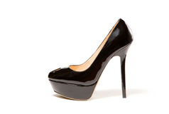Black women shoe high heels Royalty Free Stock Photography