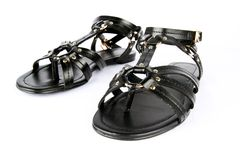 Black women shoes. Royalty Free Stock Image