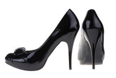 Black women shoes Royalty Free Stock Photos