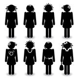 Black women silhouettes Stock Images