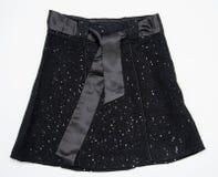Black women skirt with belt Royalty Free Stock Photos