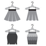 Black Women Skirts With Hangers Royalty Free Stock Photo