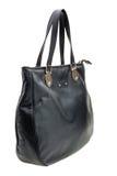 Black womens bag  on white background. Stock Photos