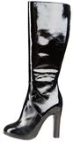 Black womenstyle boot Royalty Free Stock Photo