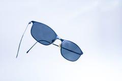 Black wommen sunglasses on isolated white background Royalty Free Stock Image